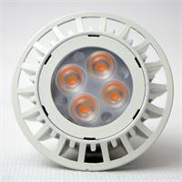 LED Strahler GU10 mit 4x Highpower SMD LEDs und Schutzglasabdeckung