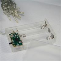 warmweiße Mini-Lichterkette mit Batterie und Timer