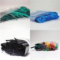 Schrumpfschlauch-Sortiment in verschiedenen Farben je 100 Stk.