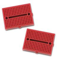2 Mini-Laborsteckboards ROT 2x170 Kontakte
