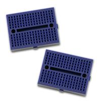 2 Mini-Laborsteckboards BLAU 2x170 Kontakte