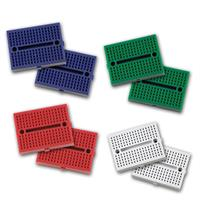 2 mini breadboards | 2x170contacts | self-adhesive, 4 colors