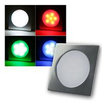 Einbauleuchte EBL-Slim-Q IP67 6 LEDs RGB, Alu-matt