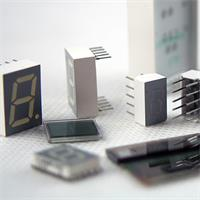 10 unterschiedliche Zifferanzeigen mit LED und LCD im unsortierten Set