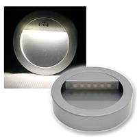 LED wall light | aluminum silver | round | pure white | 12V