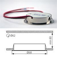 LED Einbaustrahler für 12V DC mit nur 0,5W Verbrauch