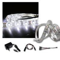 LED Strip Light 3x 1m cold white with accessories