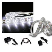 LED Strip Light 4x 1m cold white with accessories