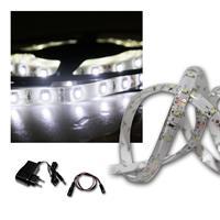 LED Lichtband Set 2,4m kaltweiß + Trafo SMD-Stripe