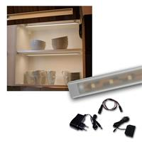 "Set LED Lichtleiste 4 x ""WTN-Flat 50cm"" warmweiß"