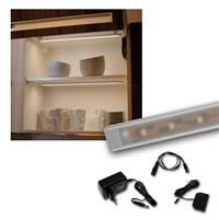 "Set LED Lichtleiste 5 x ""WTN-Flat 50cm"" warmweiß"
