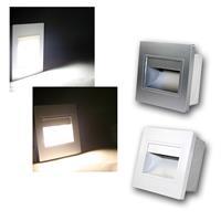 LED-Einbauleuchte eckig | weiß/silber| kalt-/warmweiß | 230V