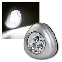 3er Set LED Touchlampe silber, Batteriebetrieb