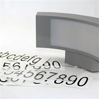 LED Hausnummerleuchte inklusive 3 Zahlen- und einem Buchstabensatz(0-9,a-e)