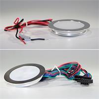 Extraflache 12V LED-Einbauleuchte mit Alu-Rahmen