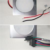 12V LED-Einbauleuchte in RGB/warm- oder kaltweiß