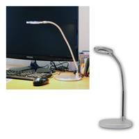 LED-Schreibtischleuchte matt-Chrom, warmweiß 220lm