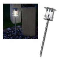 LED Solar-Wegeleuchte Edelstahl 64x14cm, warmweiß