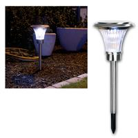 LED solar path light, stainless steel, 62x20cm