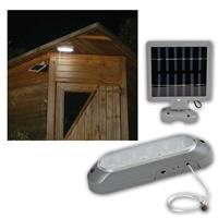 kräftige Solar Wandleuchte mit 10 LEDs weiß