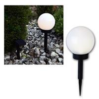 Solar-Kugel weiß Ø 15cm, LED warmweiß, Solarpanel