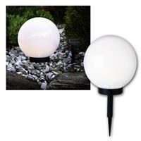 Solar-Kugel weiß Ø 25cm, LED warmweiß, Solarpanel