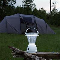 Solar-Campinglaterne mit 12 LEDs und Tragebügel