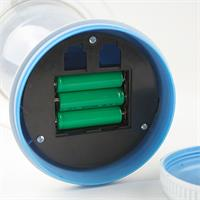 LED-solarleuchte mit integriertem Akku