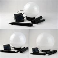 LED Solar Gartenbeleuchtung mit unterschiedlichen Durchmessern