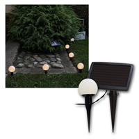 LED solar light chain with 6 LED balls, warm white