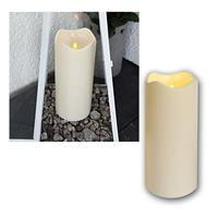 LED Kerze, Höhe 23cm, mit Timer, Ø10cm, für Außen