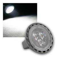 MR11 Leuchtmittel 3x Power-LED kaltweiß, 200lm, 2W