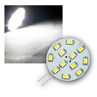 LED light bulb | G4 | 12xSMD | 12V | vertical | pure white