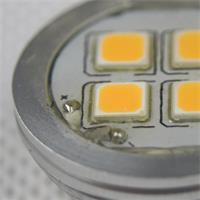 LED G4 IP54 12V rund mit 4x 5050 SMD-LEDs mit Silikonüberzug sind spritzwassergeschützt