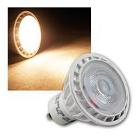 GU10 LED Strahler, 230V/5W, warmweiß 300lm Spot