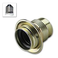 Metal socket E27 brass max 250V/4A, with thread