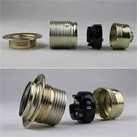 Metallfassung für Leuchtmittel mit einem E27 Sockelgewinde
