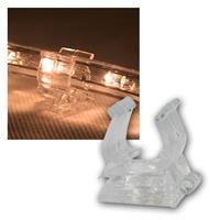 Pack of 10 mounting clips for LED light tube