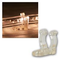 25er Pack Halteclips Schraubloch für Lichtschlauch