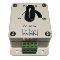 LED Dimmer PWM 12V DC max 8A Aufputzdose LEDs