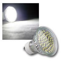 "LED-Strahler ""60x 3528 SMD LEDs"" GU10 kaltweiß 3W"