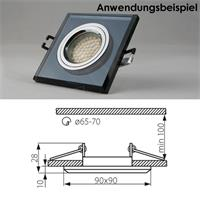 Befestigung der Leuchtmittel via Aluminiumring (Clip-Technik)