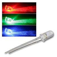 10 LEDs 5mm wasserklar RGB langsam blinkend, RGBs