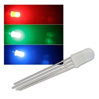10 LEDs 5mm diffus RGB 4-polig steuerbar, 4-pin