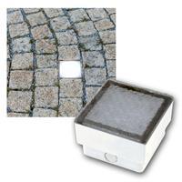 LED Boden-Einbauleuchte Pflasterstein 10x10cm 230V