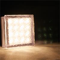 LED Pflasterstein mit 16 warm-weißen LEDs und ca. 42lm Lichtstrom