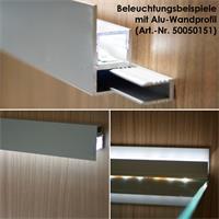 Aluminium-Wand-Glasbodenprofil in 1m Länge