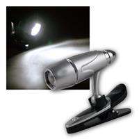 LED Klemmleuchte/Leseleuchte, 3 LEDs, dreh/schwenk