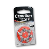 6er Pack Hörgeräte-Batterie CAMELION A13 Zink/Luft