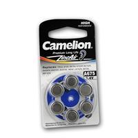 6er Set Hörgeräte-Batterie CAMELION A675 Zink/Luft